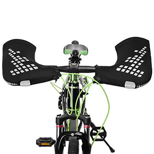 TOMSHOO Rmer - Manubrio per mountain bike, antivento, antivento, per moto, bar centrali, coperture catarifrangenti