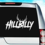 Hillbilly Deer Hunting Antlers Vinyl Decal Sticker Bumper Cling for Car Truck Window Laptop MacBook Wall Cooler Tumbler | Die-Cut/No Background | Multi Sizes/Colors, 20-inch, Orange