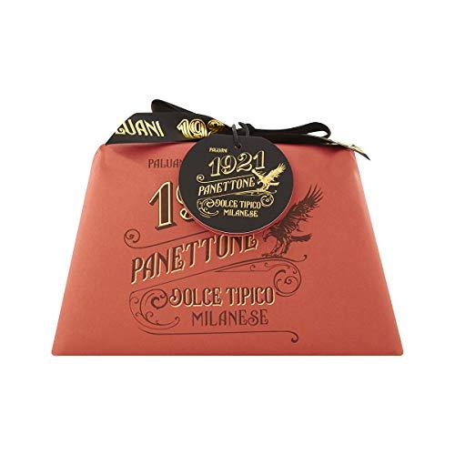 PALUANI Panettone Classico, panettone tradizionale con canditi e uvetta, ricetta originale, ingredienti prima qualità, lievitazione naturale, uova e latte freschi italiani, incartato a mano, 1000 g