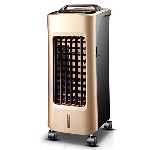 Ventilateur de climatisation multifonction à double usage de refroidissement et de chauffage, ventilateur de tour de ventilateur de synchronisation à distance, or noir (Color : Gold)