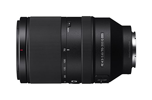Sony SEL-70300G G Tele-Zoom Objektiv (70-300 mm, F4.5-5.6, OSS, Vollformat, geeignet für A7, A6000, A5100, A5000 und Nex Serien, E-Mount) schwarz