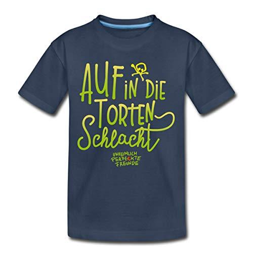 Unheimlich Perfekte Freunde Tortenschlacht Teenager Premium T-Shirt, 158-164, Navy