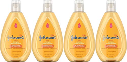 Johnson's Baby Shampoo, Travel Size, 1.7 Ounce (Pack of 4)