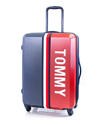 Tommy Hilfiger Pep Rally Hardside Spinner Luggage with TSA Lock, Navy, 24 Inch