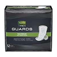 【男性用尿モレパッド】Depend® Guards for Men - 52枚入り