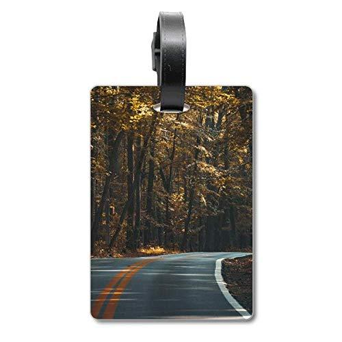 Reise-Etikett für Trolley-Tasche, Motiv: Wald, Herbst, Reisen, dunkler Kreuzfahrt, Kofferanhänger
