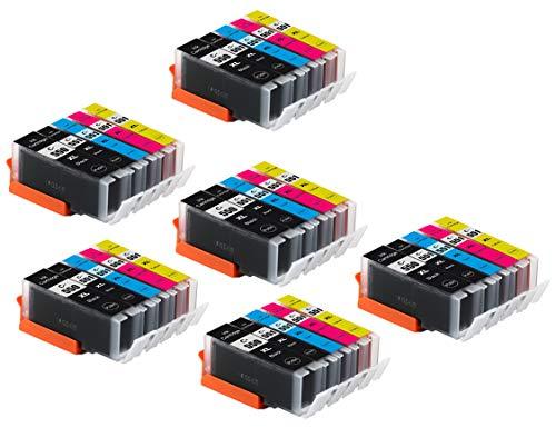 Bergsan 30 Druckerpatronen kompatibel mit Canon PGI-550 XL CLI-551 XL für IP7200 IP7250 IX6800 IX6850 MG5400 MG5450 MG5550 MG5600 MG5650 MG5655 MG6400 MG6450 MG6600 MG6650 MX720 MX725 MX920 MX925