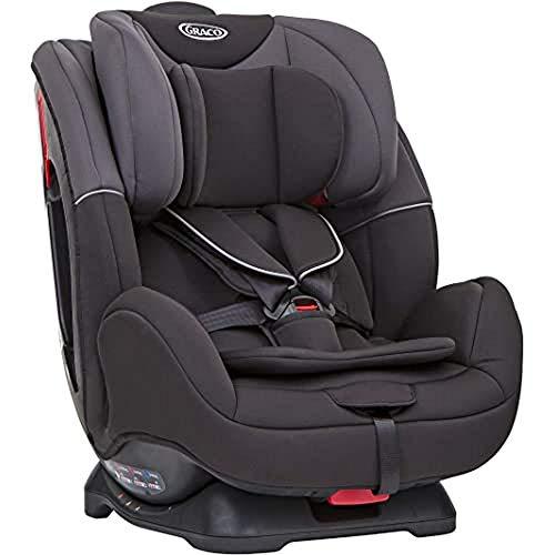 Graco Enhance Kindersitz Gruppe 0+/1/2 Autositz ab Geburt bis ca. 7 Jahre (0-25 kg), rückwärtsgerichtet bis 9 kg, vorwärtsgerichtet von 9-25 kg, Seitenaufprallschutz, mitwachsende Gurte, black/grey