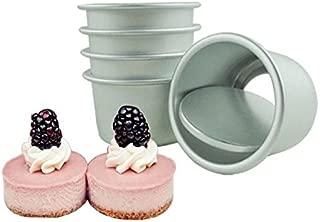 Astra Gourmet Perfect Performance Aluminium Mini Round Cheesecake Pan Cupcake Pan Muffin Pan, Perfect for Indivdiual Desserts, Set of 10
