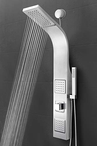 AKDY 39 Inch Wall Mount Easy Connect Rainfall Waterfall Multi-Function Shower Panel