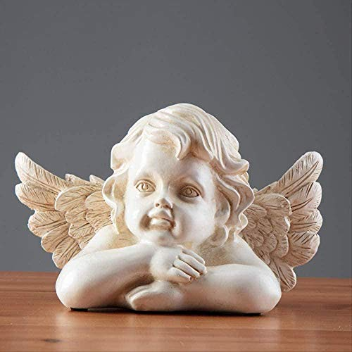 COCECOCE Ornament Figur Dekorieren Home Griechische Mythologie Little Angel Eros Cupid Dekoration/Mini Fairy Garden Brunnen Zubehör