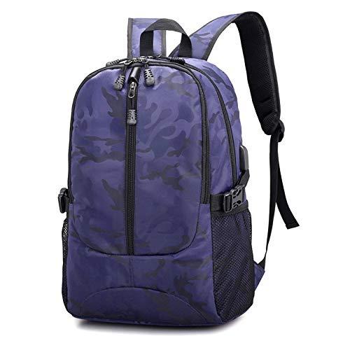 Mochila para computadora portátil, mochila de gran capacidad de 15,6 pulgadas, impermeable para hombres con puerto de carga USB, mochila para computadora portátil antirrobo para mujeres para ocio,Blue