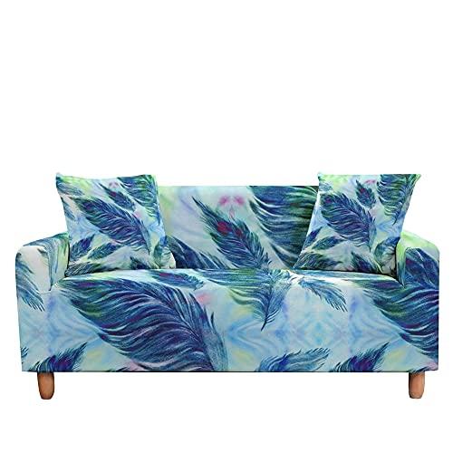WXQY Funda de sofá de Mosaico Tropical Funda de sofá Moderna elástica Funda de sofá seccional para sillón de Esquina A9 2 plazas
