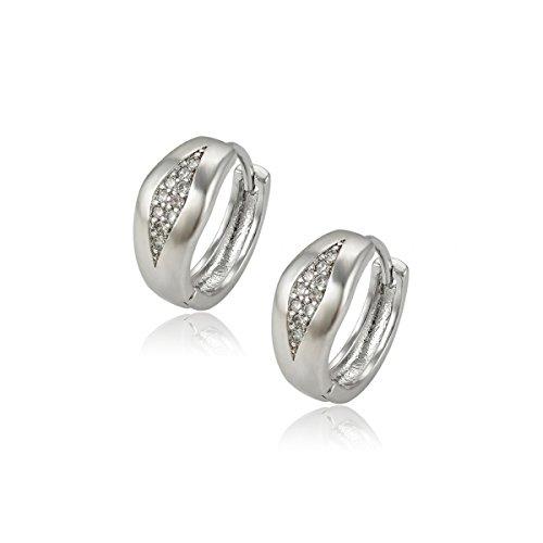 Treend24 Elegante oorstekers voor dames, roségoud, eenvoudige strassteentjes, oorbellen voor meisjes