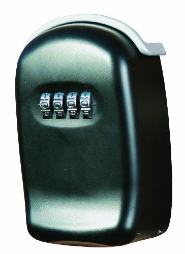 Phoenix KS0001C Schlüsselbox Schlüsselkasten inkl. 4-Zahlen Drehkombinationsschloss, HxBxT: 10,0 x 6,5 x 3,5 cm