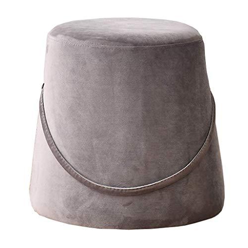 SMTAO Creative Bucket Style Footstool Makeup Stool Portable Elastic Sponge Filling Change Shoe Bench For Kids Adults