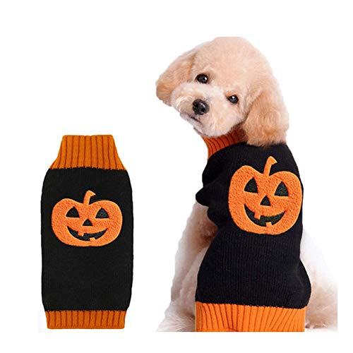 DOGGYZSTYLE Halloween Kürbis Hund Pullover Haustier Kostüm Fashion Urlaub Party Puppy Geschenk für Hunde und Katzen (Kürbis-A, XL)