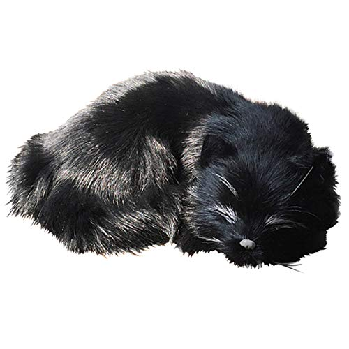 猫 ぬいぐるみ リアル 寝そべり ねこ ひざねこ ネコちゃん 本物そっくり 置物 インテリア 部屋飾り 誕生日プレゼント 女性 (黒猫)