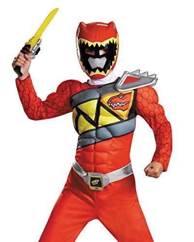 Horror-Shop Power Ranger Red Ranger Dino Carga Disfraz De Músculo M