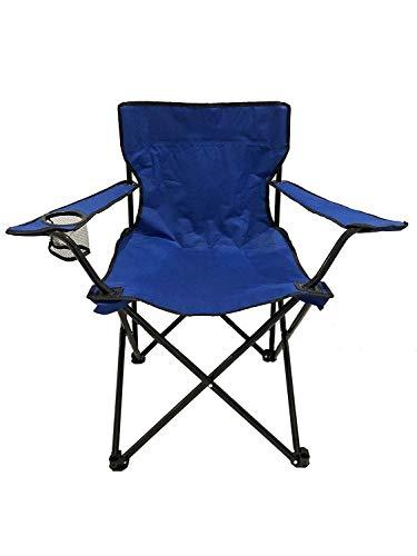 JALAL Silla Camping Plegable, reposabrazos con portavasos Silla Picnic al Aire Libre