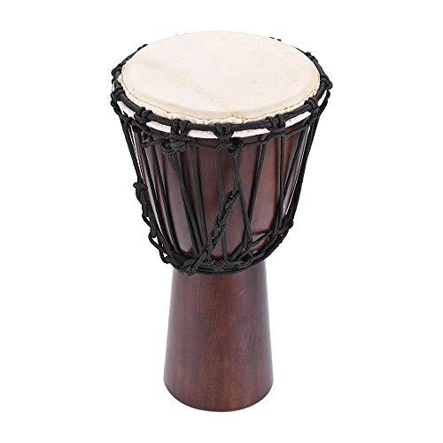 ABMBERTK Tambor Bongo de Mano Djembe Africano de 10 Pulgadas, Instrumento de música de percusión de Cuerpo de Madera Dura Selecta`` 10 Pulgadas