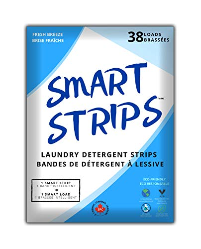 Smart Strips™ – Laundry Detergent Strips (38 Loads) - Hypoallergenic, Eco Friendly Laundry Detergent Sheets . Ultra-Concentrated Eco Strips for Sensitive Skin. Plastic-Free and Compostable - The Smart New Way To Do Laundry - (Fresh Breeze)
