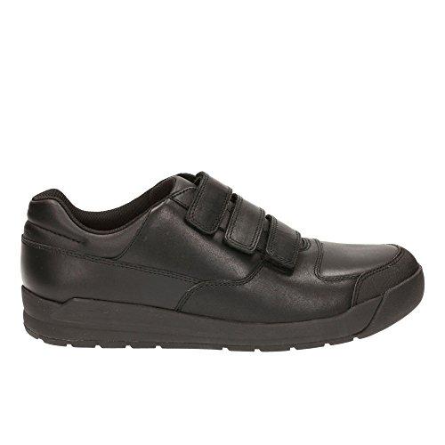 Clarks Monte école de garçons de Bootleg Lite chaussures en noir Black Leather 9 F