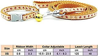 Sets - Dog Cat Collar Leash Adjustable Pet Collar Lead for Cat Puppy Small Pet Outdoor Walking Chihuahua Yorkshire Terier ...