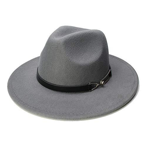 Fedora hoed voor dames, van wolvilt, voor heren, met ketting, vintage-hoed van wol, fedora, warme jazz hoed 2019, voor dames