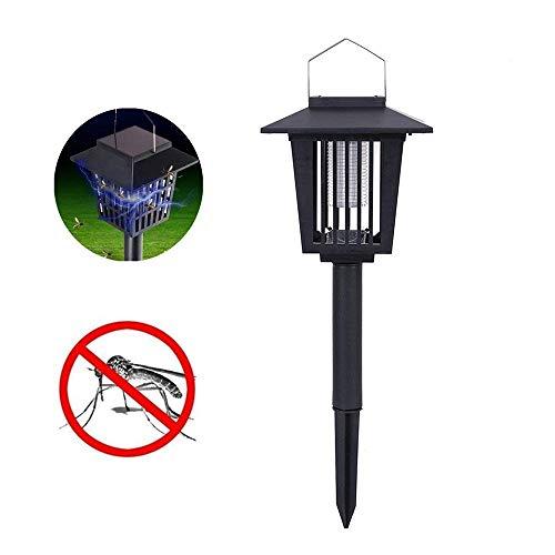 Skitic LED Solaire Moustique Lampe de Tueur de Moustique extérieur étanche Pest Mosquito Killer Bug Zapper Anti-Moustique Eclairage Extérieur Eclairage pour Jardin Patio Pelouse