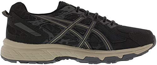 ASICS Men's Gel-Venture 6 Running Shoes Black/Dark Grey/Feather Grey 10 D(M) US