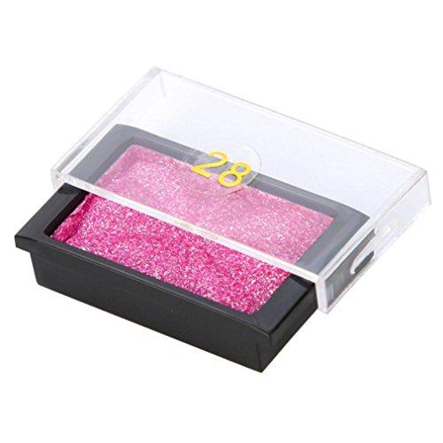 YUYOUG Femmes Maquillage Oeil Ombre Perlescent Paillettes Poudre Métallique Palette (Hot Pink)