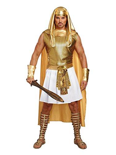 Dreamgirl Men's Ramses, Gold/White, XL
