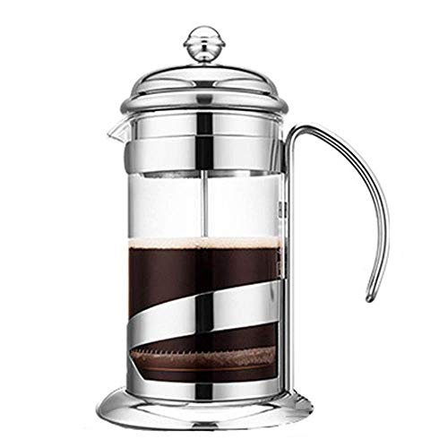 Review Of French Press Coffee Maker,French Pressure Kettle Heat-Resistant Glass Hand Pressure Coffee...