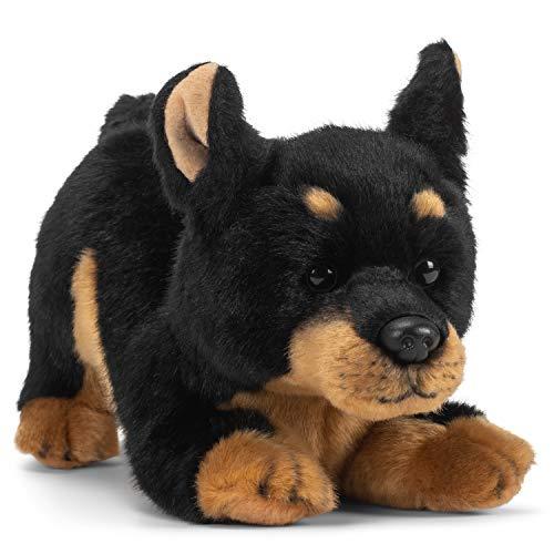 DEMDACO Doberman Pinscher Dog Black and Tan 10 inch Children's Soft Plush Stuffed Animal Toy