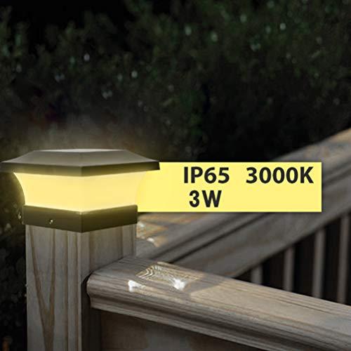 Pfostenkappe Solarleuchten Premium Wasserdicht Automatisch Outdoor Pfosten Solar LED Licht Garten Deckkappe Zaun Solarleuchte Energiesparend