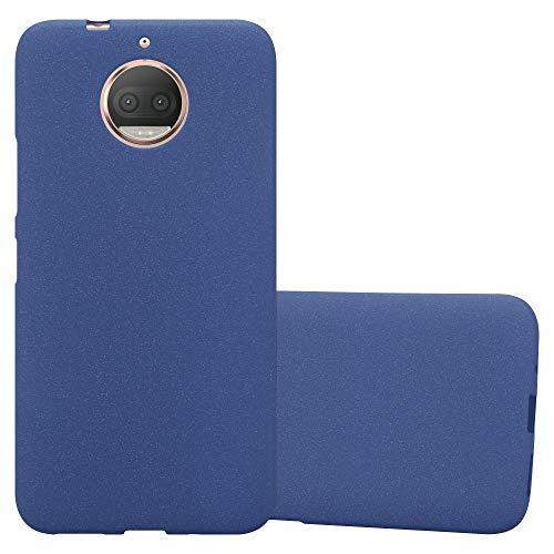 Cadorabo Hülle für Motorola Moto G5S Plus in Frost DUNKEL BLAU - Handyhülle aus flexiblem TPU Silikon - Silikonhülle Schutzhülle Ultra Slim Soft Back Cover Case Bumper
