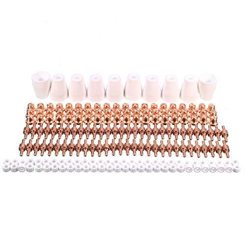 190 piezas consumibles de plasma piezas extendidas 40 A cortadoras de plasma para antorcha PT-31