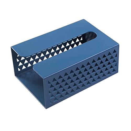 XKMY Caja de pañuelos de estilo nórdico para colgar en la pared, diseño de triángulo, hueco, toallero, para cocina, servilleta, caja de almacenamiento para el hogar, sala de estar, oficina (color 03)