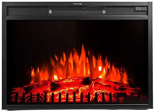 Noble Flame Belfast 650 – Elektrokamin-Einsatz Einbaukamin – Moderne LED Technik inkl. Heizfunktion – täuschend echtes Feuerambiente - Schwarz