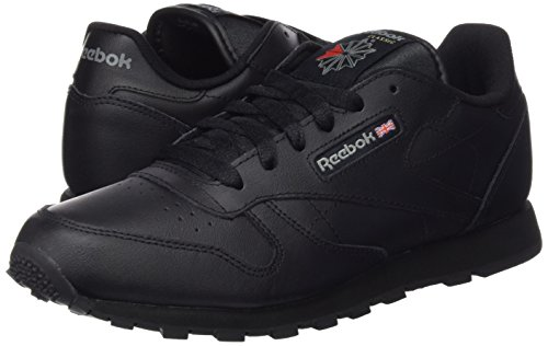 Reebok Classic Leather, Zapatillas de Trail Running Unisex Niños, Negro, 34 EU
