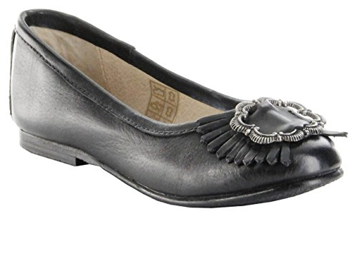 Bergheimer Trachtenschuhe Ballerinas Glattleder schwarz Mädchen-Schuhe Sandra, Farbe:schwarz, Größe:31 EU