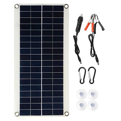 JH-10 18V / 5V Panel solar monocristalino Cargador de batería Dual interfaz USB con cables