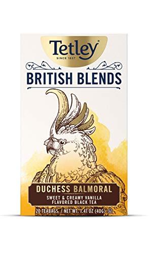 Tetley British Blends Duchess Balmoral Black Tea, Sweet & Creamy Vanilla Tea, 20 Tea Bags (Pack of 6), Rainforest Alliance Certified