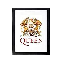 Queen クイーン Tシャツ メンズ 木製 額縁 フォトフレーム 壁掛け 木製 横縦兼用 PVC フック付き 絵を含む 30×40cm