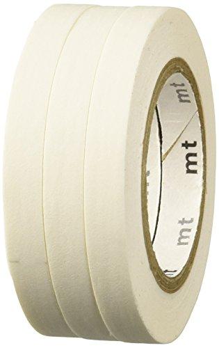 MT Slim K - Cinta adhesiva Washi (6 mm, 3 rollos), color blanco mate
