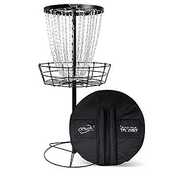 MVP Disc Sports Black Hole Lite Disc Golf Basket with Transit Bag