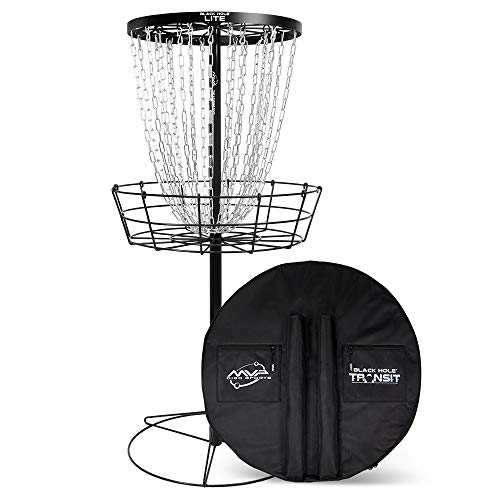 MVP Disc Sports Black Hole Lite Disc Golf Basket with Transit Bag