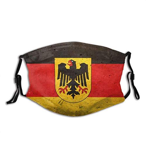 Grunge Flagge von Deutschland (Bundesland) Unisex waschbare und Wiederverwendbare warme Baumwolle Gesichtsschutz für den Außenbereich