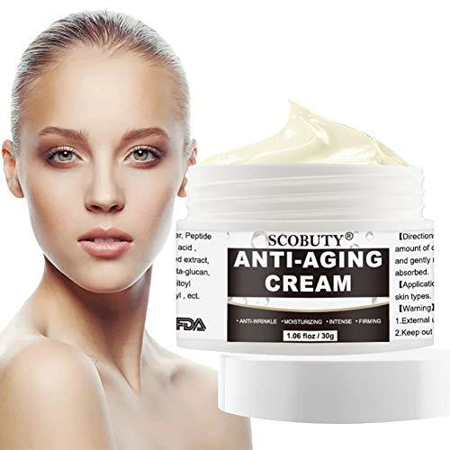 Anti Aging Creme,Straffende Gesichtscreme,Gesichtscreme,Peptide Feuchtigkeitscreme,Anti-Ageing Tages und Nachtcreme Moisturizer